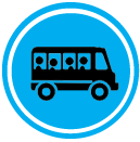 School minibus and driver trips London